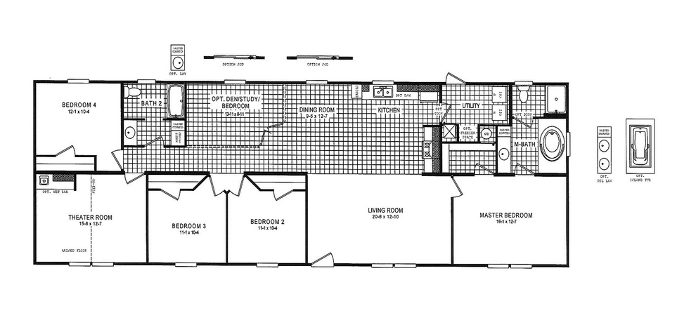 18 x 80 Mobile Home Floor Plans
