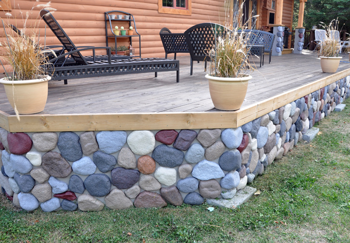 Ideas Skirting Faux Rock a Mobile Homes