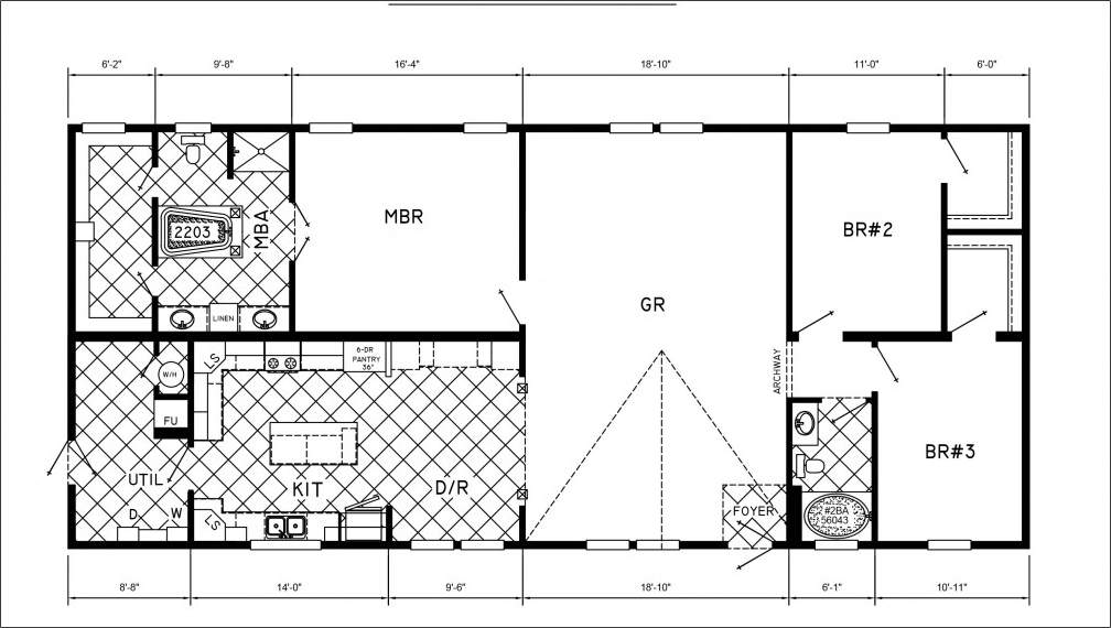 Mobile Home Floor Plans 3 Bedrooms | Mobile Homes Ideas
