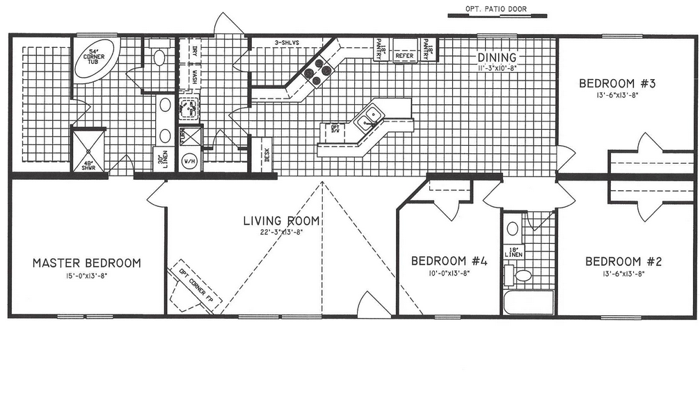 Mobile Home Floor Plans 4 Bedroom