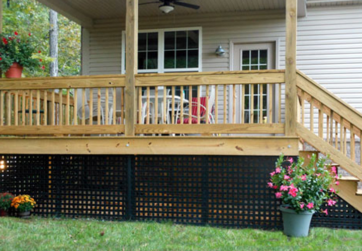 This a Mobile Home Skirting Lattice Design