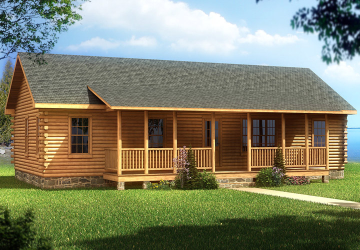 2 Bedroom Log Cabin Mobile Homes