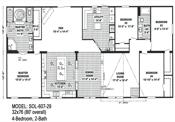 Floor Planning For Double Wide Trailers Mobile Homes Ideas