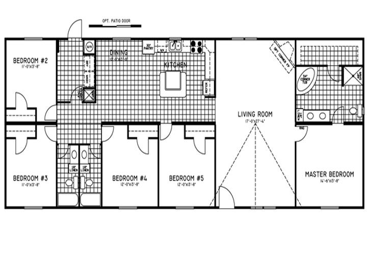 5 Bedroom Double Wide Trailers Floor Plans Mobile Homes Ideas