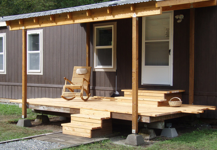 Deck Designs on Mobile Homes