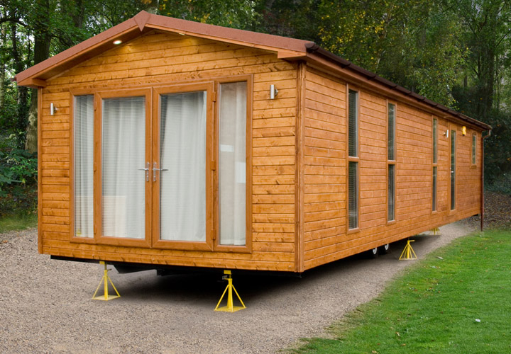 Mobile Homes with Log Cabin Siding