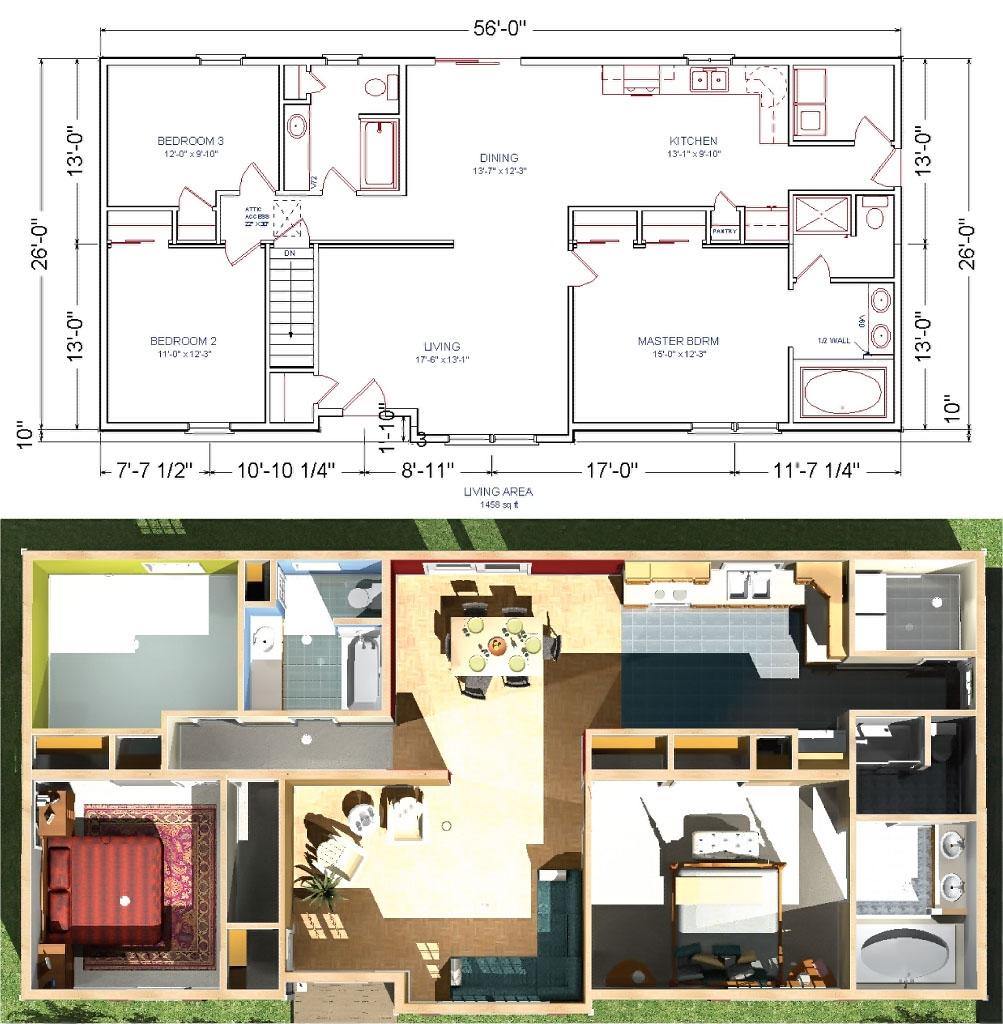 Modular Home Blueprints Plans Mobile Homes Ideas