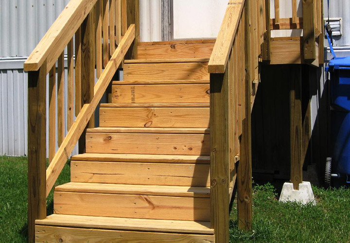 Wooden Stairs for Mobile Home